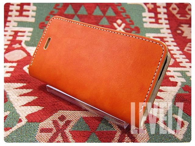 LEVEL7/レベルセブン iphone6/iphone6sケース/アイフォン6/6S 手帳型ケース 日本製/MADE IN JAPAN ハンドメイド オレンジ