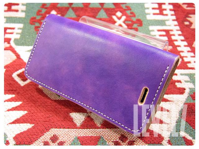LEVEL7/レベルセブン iphone6/iphone6sケース/アイフォン6/6S 手帳型ケース 日本製/MADE IN JAPAN ハンドメイド パープル